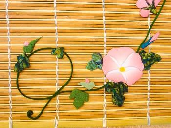 ピンク朝顔