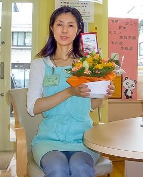 さとりちゃん5周年お花と私の様子
