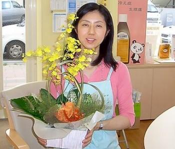 SQさんから5周年のお花と私の様子