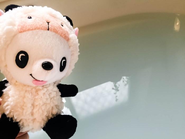 シンシン君と瑞花露ボディケア入浴液のお風呂