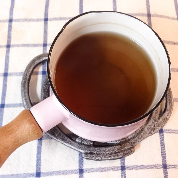 牛蒡子茶できあがり