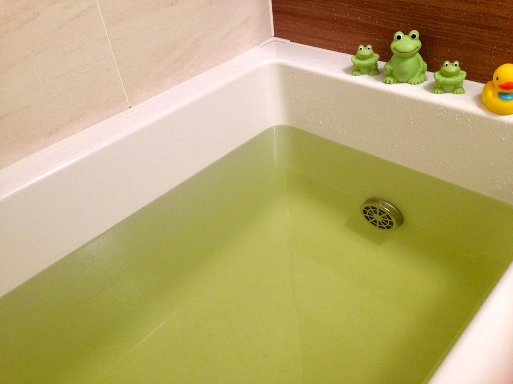 カエルさんも入ろう