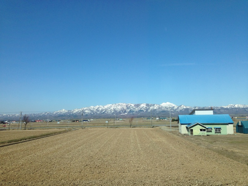 車窓から暑寒別岳